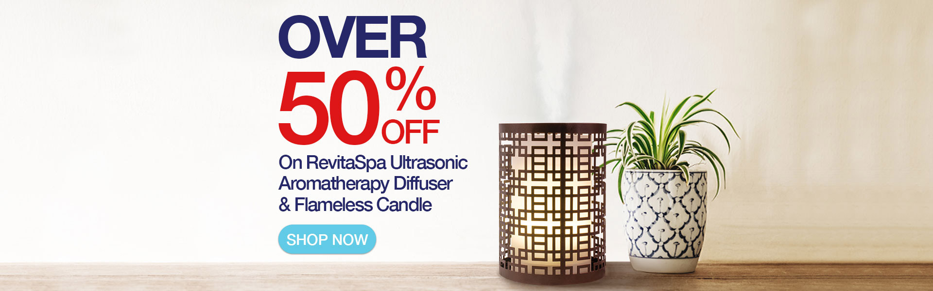 RevitaSpa Ultrasonic Aromatherapy Diffuser and Flameless Candle