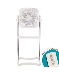 Air Innovations 2-in-1 Fan with Cord Wrap With Swirl Cool Feature & LED Dimmer (With Remote)